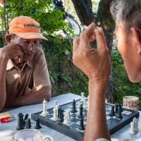 Rauchen und Schachspielen