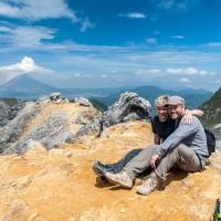 Auf dem Gipfel von Mount Sibayak