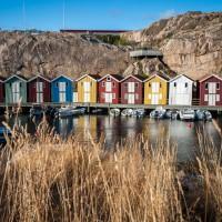 Hafenhäuser in Smögen
