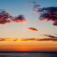 Sonnenuntergang über Runde