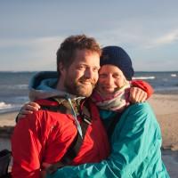 Katharina undich am Strand von Skagen