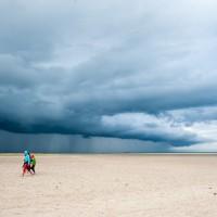 Regen zieht auf über der Nordspitze von Skagen