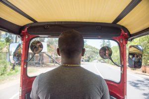 Der Fahrer brachte uns für 3000 LKR von Tangalle nach Tissa