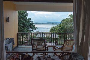 aus unserem Hotelzimmer im Thaulle Resort